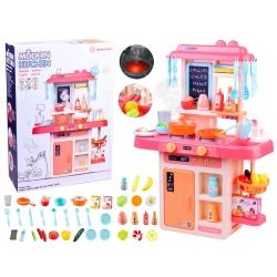 Daugiafunkcine virtuvė su garsais Pink + 42 priedai