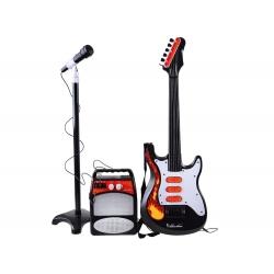 Roko gitara, Mikrofonas, Stiprintuvas, Ausinės