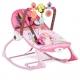 Vibro kėdute – gultukas Pink Birds iki 18 kg.