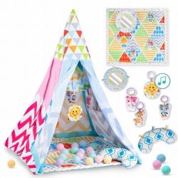 Palapinė su kilimėliu, karusele ir kamuoliukais Triangle