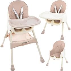 Funkcionali maitinimo kėdutė Kruz Pink 2in1 su krepšiu