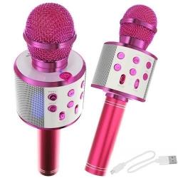 Karaoke - mikrofonas su garsiakalbiais Pink