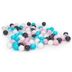 Plastikiniai kamuoliukai Pastel, 100 vnt.