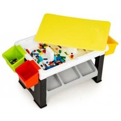 Kaladėlių stalas - -žaislų dėžė + 300 vnt. kaladėlių