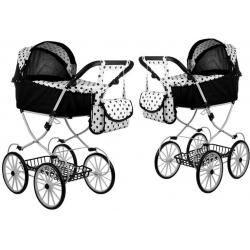 Vaikiškas lopšinis lėlių vežimėlis Alice Retro