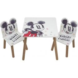 Medinis staliukas su 2 kėdutėmis Disney Mickey