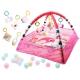 Lavinamasis kilimėlis Animals Pink su kamuoliukais