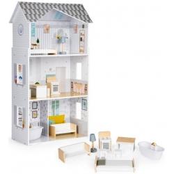 Medinis lėlių namas su baldais Grace
