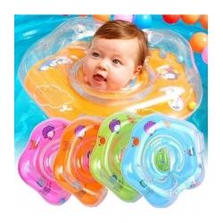 Mokomasis plaukimo ratas kūdikiams ant kaklo
