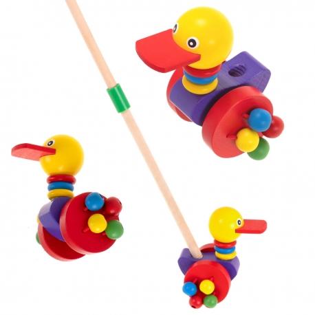 Medinis stumiamas žaislas Antytė