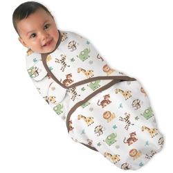Vystyklas - kokonas kūdikiui SwaddleMe Džiunglės (S dydis: 3,2 kg iki 6,4 kg)