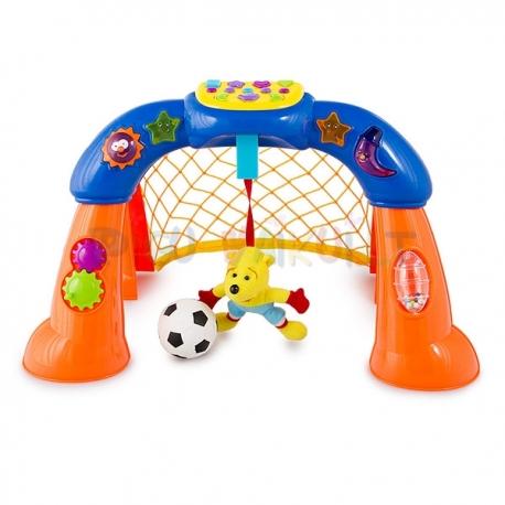 Muzikiniai futbolo vartai su kamuoliuku