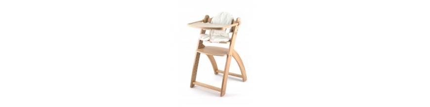 Medinės maitinimo kėdutės